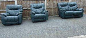 vintage recliner sofa suite