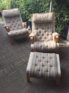 wooden base armchairs