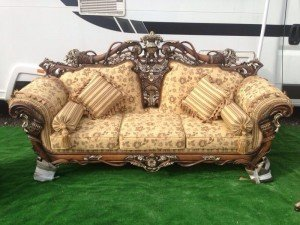 three seater vintage sofa