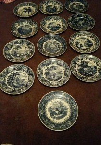 Wedgewood cabinet plates