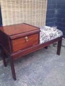 mahogany telephone bench