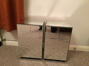 mirrored bedside cabinets