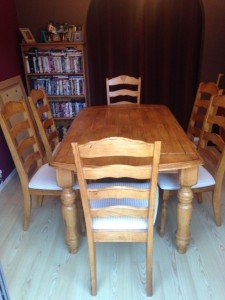 armhouse style dining table