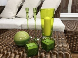 green glass accessories