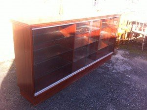 mahogany side board unit