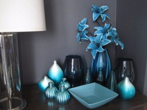 blue decorative accessories