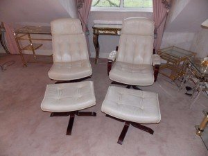 mahogany swivel chairs