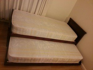 solid wood bed