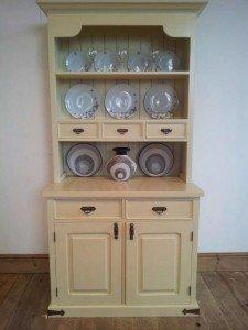 cream kitchen dresser