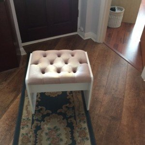 white dressing table stool,