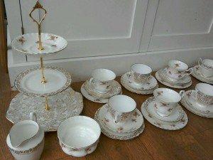 patterned tea service
