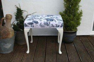 wood piano stool