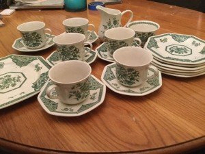 patterned tea service