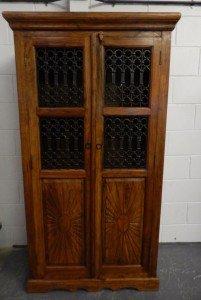 oak and lead cupboard