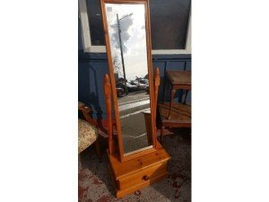 bevelled swing mirror,