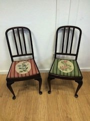 oval back hall chairs