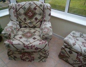vintage reclining armchair