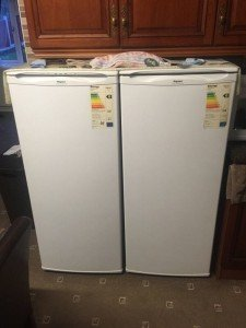 Hotpoint white fridge,