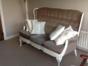 winged back sofa
