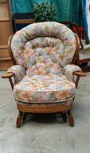 rounded back armchair