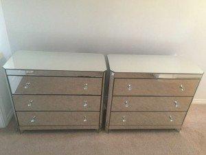 mirrored drawers