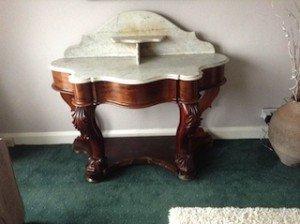 mahogany washstand