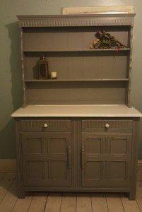 grey kitchen dresser