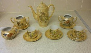 glazed tea set
