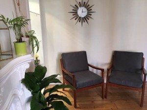 teakwood armchairs