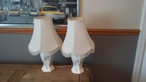 pattern porcelain lamps
