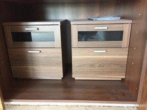 glass bedside cabinets