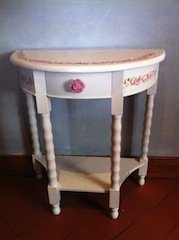 floral console table
