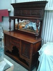 solid oak wall dresser