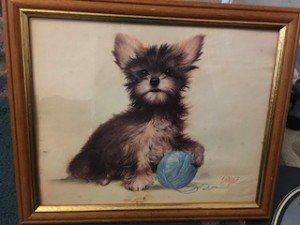painting of a Yorkshire terrier